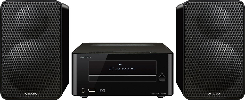 Onkyo CS-265-B - Sistema mini (Bluetooth, NFC, USB frontal) color negro