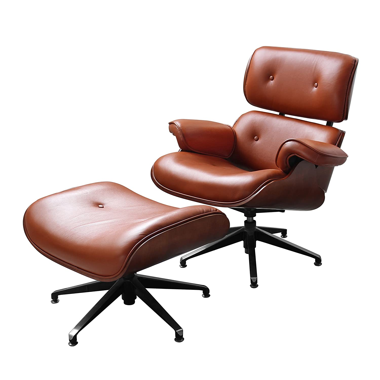Premier Housewares Leather Swivel Chair And Footstool   Tan: Amazon.co.uk:  Kitchen U0026 Home