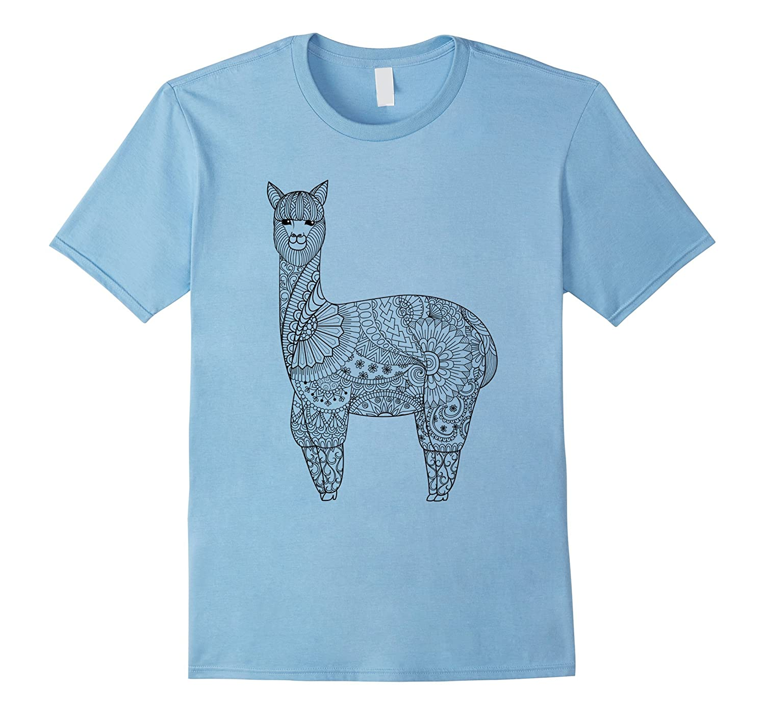 Alpaca - Color Your Own Colorific Tees Design-RT