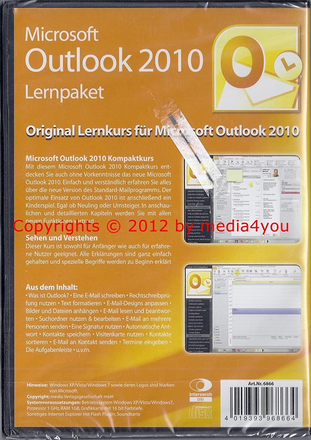 Microsoft Outlook 2010 Lernsoftware Amazon De Elektronik