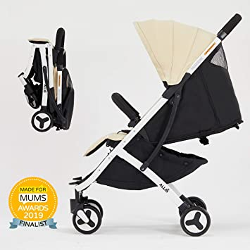 Allis Lightweight Baby Pram Pushchair Buggy Travel Stroller Plume Beige