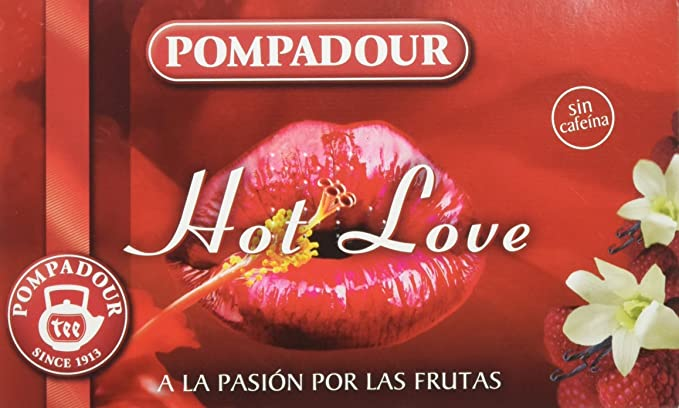 Pompadour Té Infusion Hot Love - 20 bolsitas
