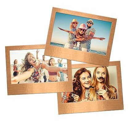 Shot2go Pack of 3 Copper Metallic Magnetic Photo Fridge Frames 4x6