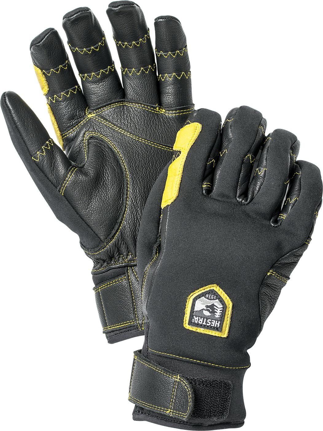 Hestra Outdoor Work Gloves: Ergo Grip Riding Cold Weather Gloves, Black/Black, 9