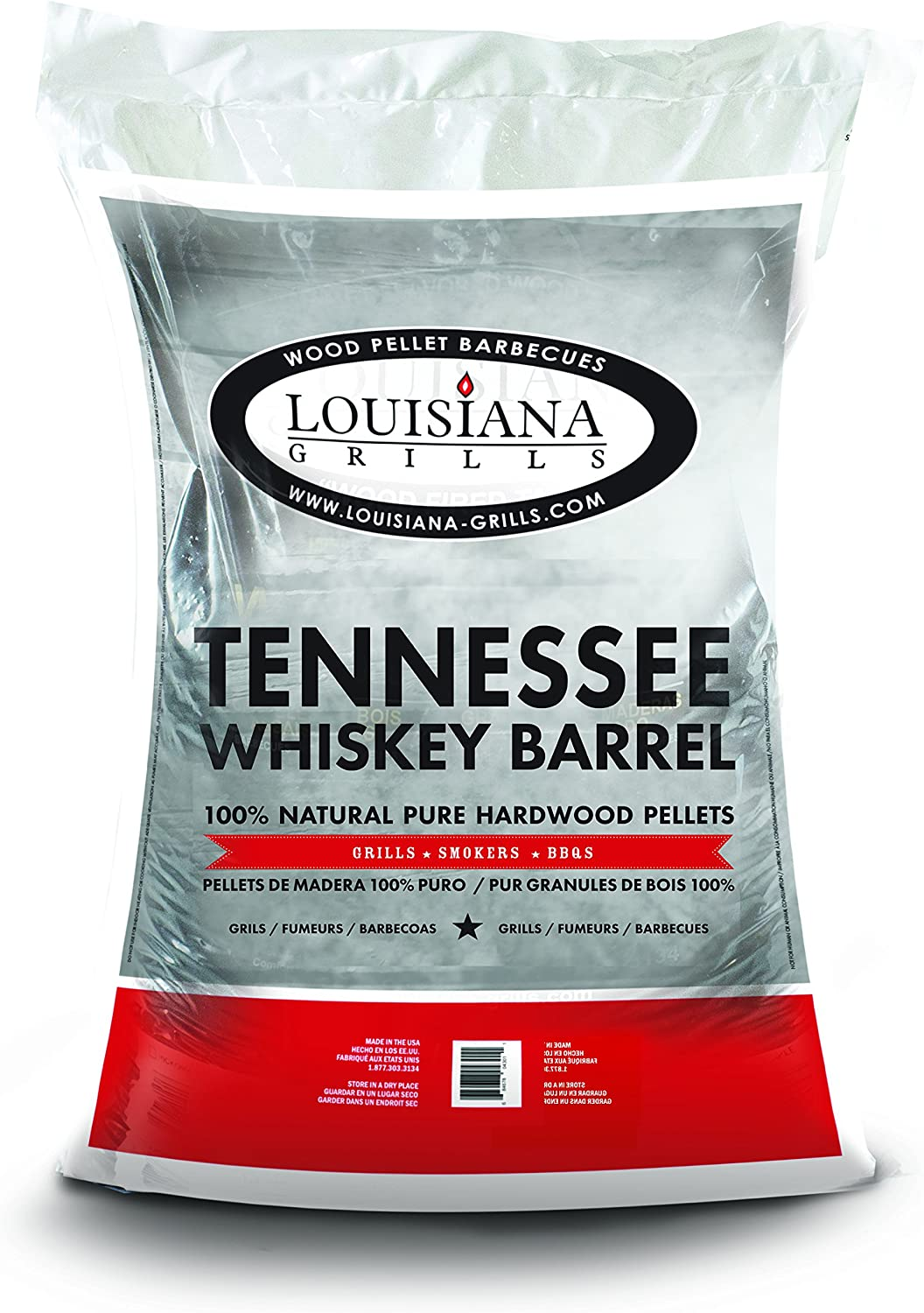 Louisiana Grills 55410 Tennessee Whiskey Pellets, 40-Pound, Barrel