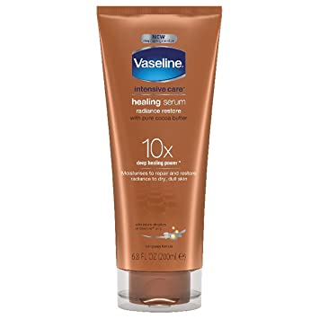 Vaseline Intensive Care Healing Serum, Radiance Restore 6.80 oz (Pack of 4) Olivella Lip Roll-On With Chamomile,100% Natural Olive Oil - 0.33 Oz, 3 Pack
