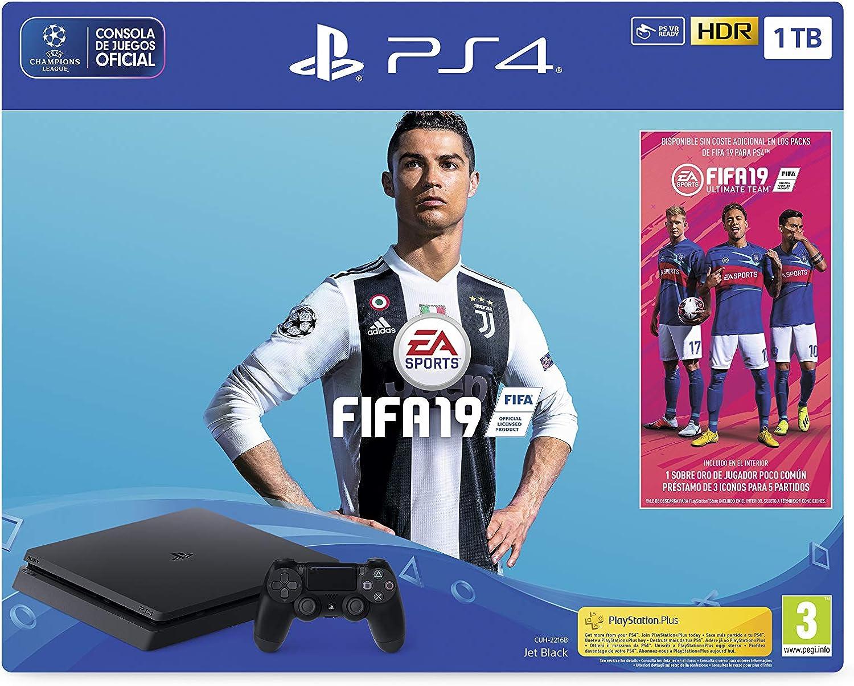 PlayStation 4 (PS4) - Consola 1 TB + FIFA 19 - Edición Estándar ...