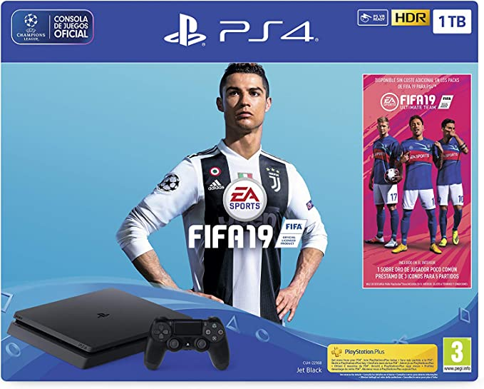 PlayStation 4 (PS4) - Consola 1 TB + FIFA 19 - Edición Estándar: Sony: Amazon.es: Videojuegos