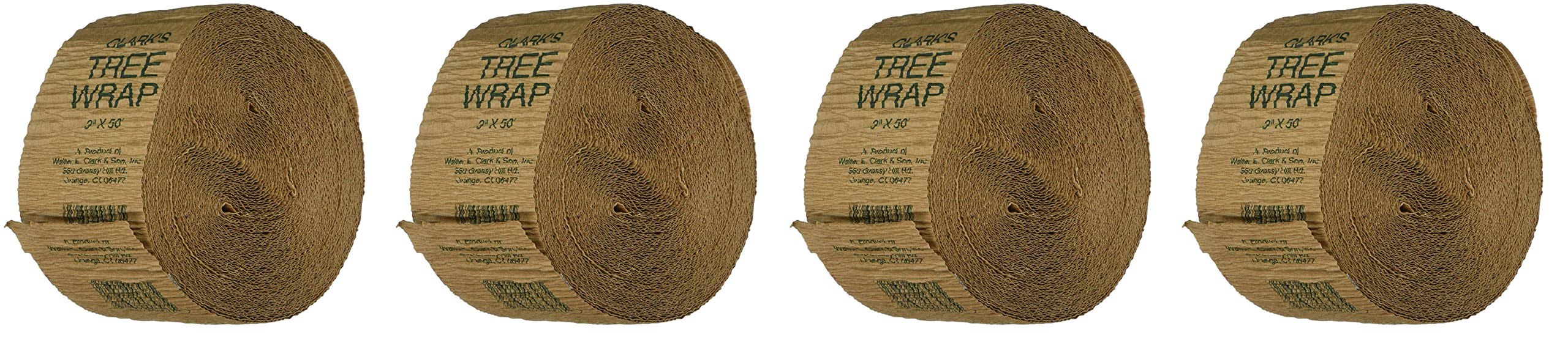 Walter E Clark 3-Inch by 50-Foot Tree Wrap 00303 (Fоur Расk) by Walter E Clark