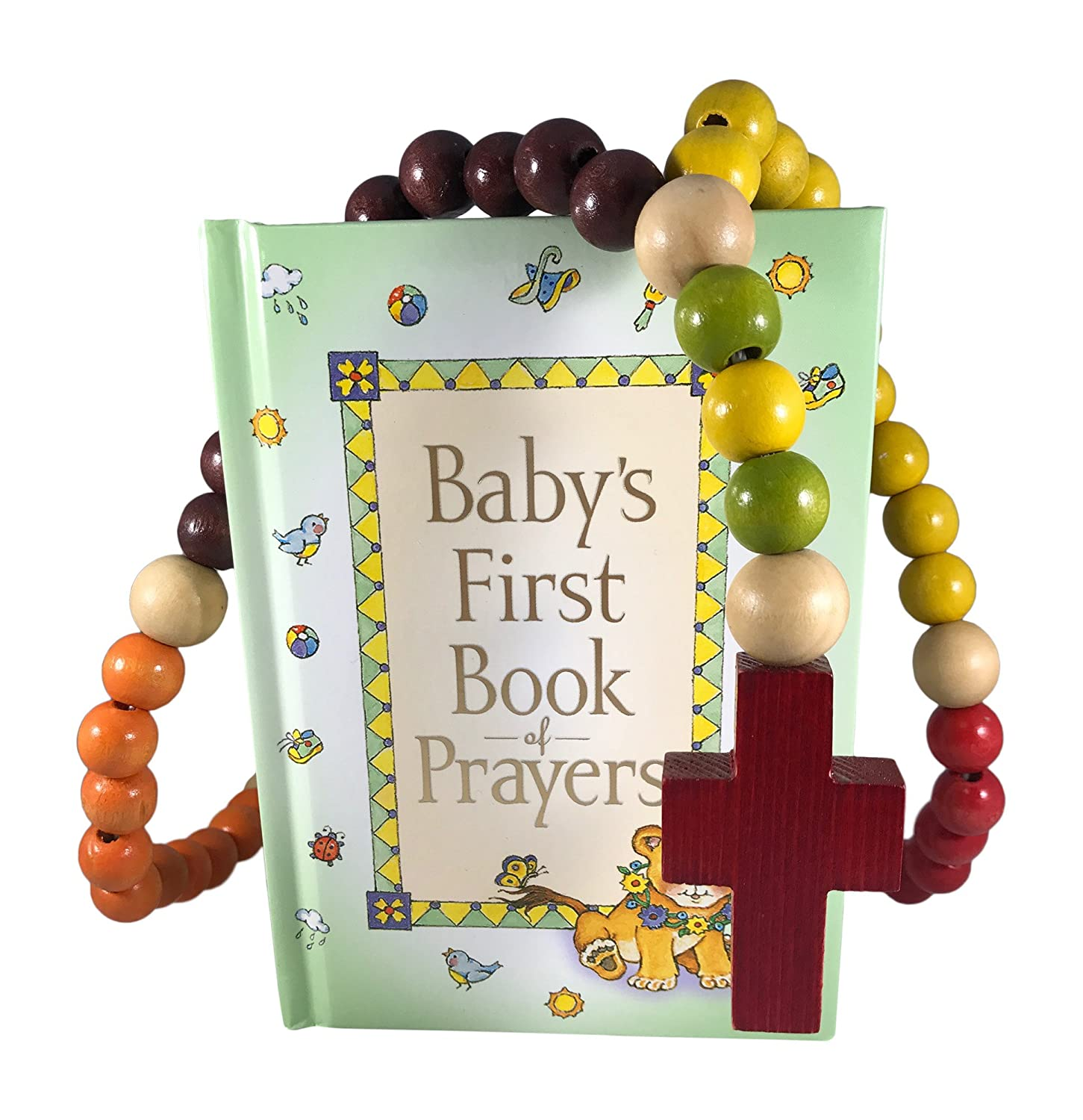 Amazon.com : Baby Catholic Baptism Gift Set, Includes Baby's First Rosary and Baby's First Book of Prayers, Perfect Baptism, Christening, Shower Gifts : ...