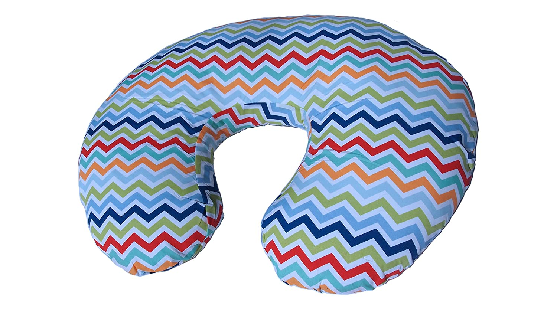Nursing Pillow Wavy Chevron Multi-Purpose Deluxe Baby's Nest