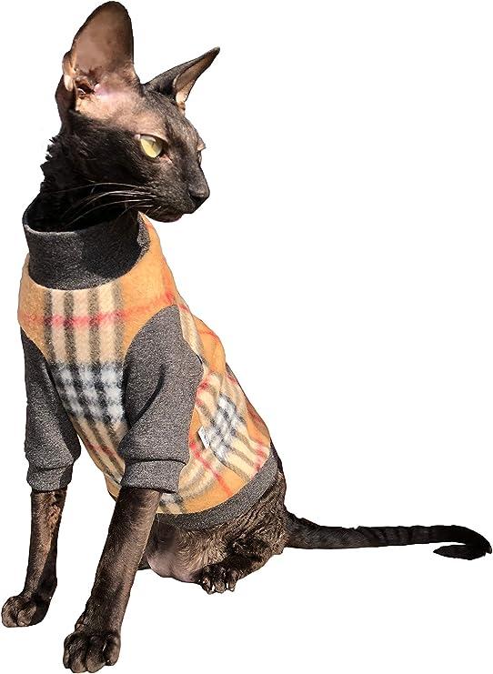 Kotomoda Ropa para Gatos Jersey de algodón células marrones (L): Amazon.es: Productos para mascotas
