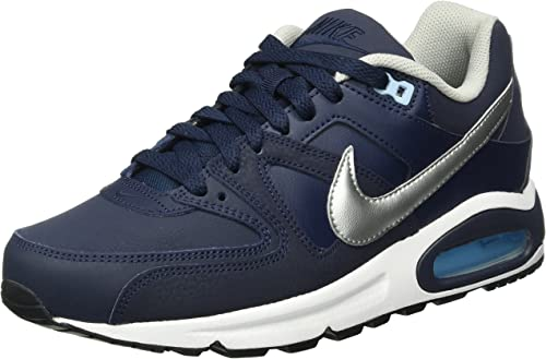 Aumentar quiero víctima  Nike Men's Air Max Command Leather Sneakers, Blue (Obsidian/Mtllc  Silver/Blcp/Wht), 10.5 UK: Amazon.co.uk: Shoes & Bags