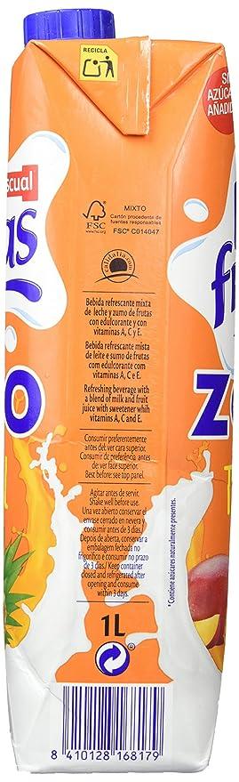 Bifrutas Zumo Leche TROPICAL ZERO - Paquete de 8 x 1000 ml - Total: 8000 ml: Amazon.es: Alimentación y bebidas