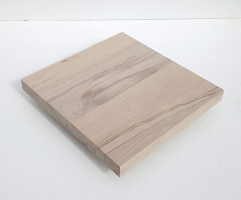 400x200x29mm stark. Holzplatte Bretter Leisten Sonderma/ße. 1 Massivholzplatte Kernbuche 29mm stark