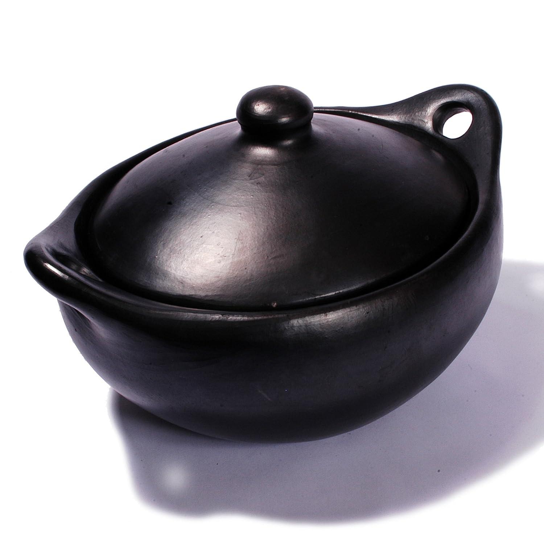 Black Clay, La Chamba Oval Casserole - Medium - 4 Quarts Ancient Cookware COL-1012-13
