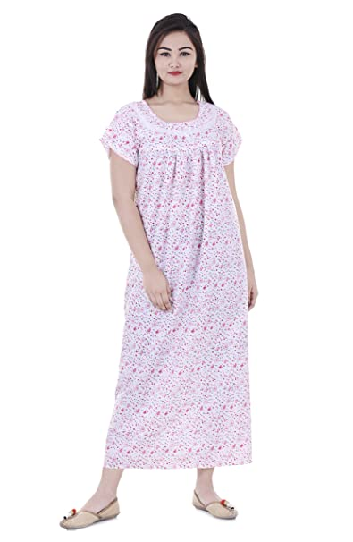 3de069684d Women Cotton Nighty, Gown, Sleepwear, Nightwear, Maxi - Soft and Stylish  Night Suit, Cotton: Amazon.in: Clothing & Accessories