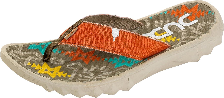 eace1f35466a Hey Dude Shoes Sava Incas Rust Canvas Flip Flop 40 1  Amazon.co.uk  Shoes    Bags