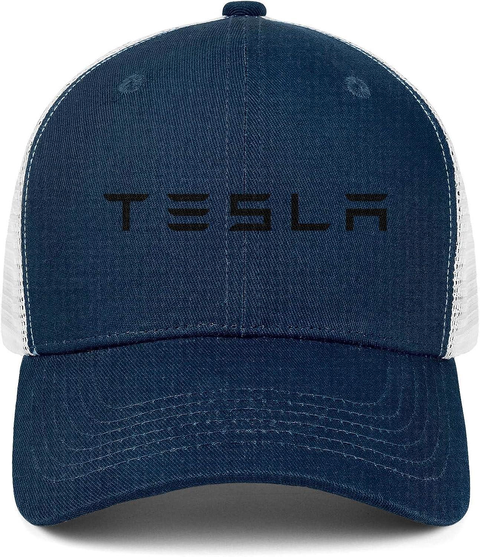 Snapback Hats COOLGOOD Printed Mens Women Mesh Back Ventilation Baseball Caps Tesla-Logo