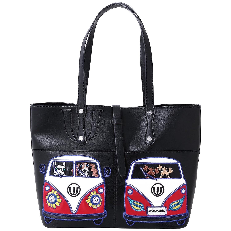 MU Sportsレディースショルダーバッグ、703 V2006  ブラック B07DWM7LMG