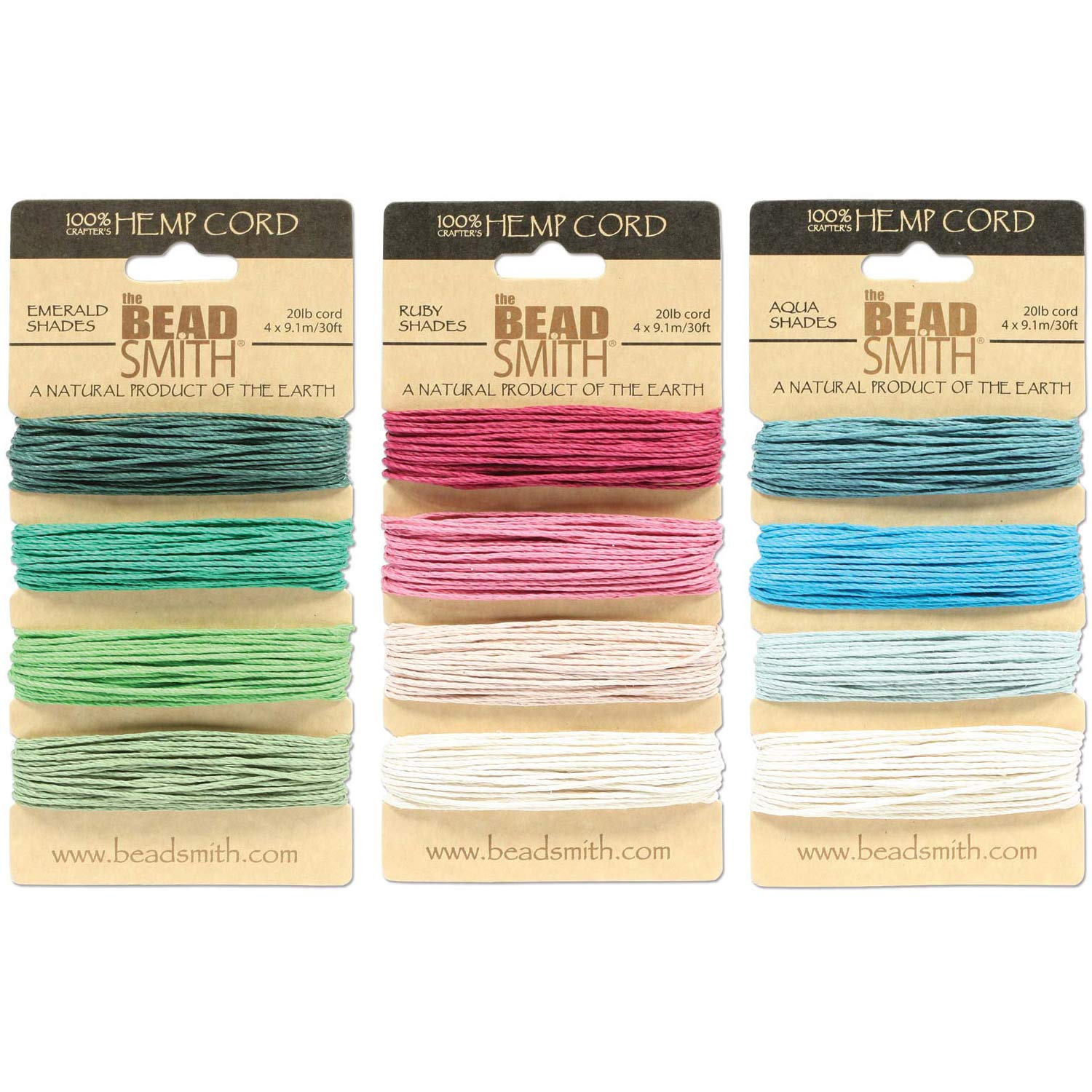 Hemptique Hemp Cord 4 Color Cards Made with Love Macram/é Eco Friendly Scrapbooking Crafter/'s No Home D/écor 1 Choice Gardening Plant Hanger Ruby Pack