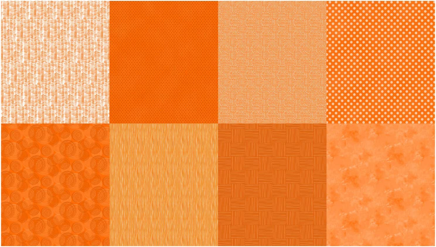 Hoffman Digital Details 90'' Blender Panel Cadium Orange Quilt Fabric