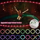【Upgraded Large Volume Version】 LED Trampoline Lights,Remote Control Trampoline Rim LED Light for Trampoline, C Battery Box,