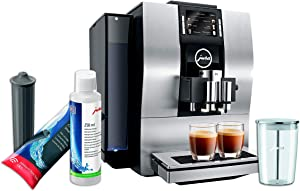 Jura Z6 Automatic Coffe Machine Aluminium Set with Smart Water Filter, Milk System Cleaner and Milk Container