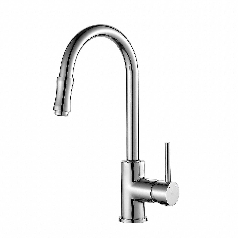 Kraus KPF-1622CH Single Lever Pull Down Kitchen Faucet Chrome ...