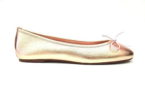 De' Campo In Laminata Ballerina Pelle Fiori Donna ModStefania nwv0OyNm8