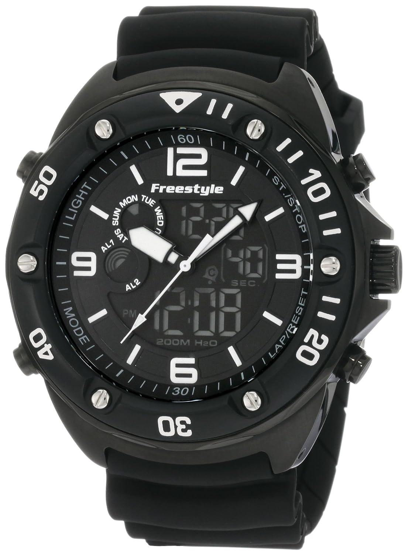 Freestyle FS85008 - Reloj analógico y digital de cuarzo para hombre con correa de caucho, color negro: Freestyle: Amazon.es: Relojes