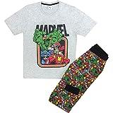 Marvel - Pijama para hombre de Spiderman Hulk Iron Man Capitán América para hombre (pequeño a XL)