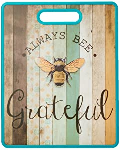 Boston Warehouse 27054 Always Bee Grateful Cutting Board