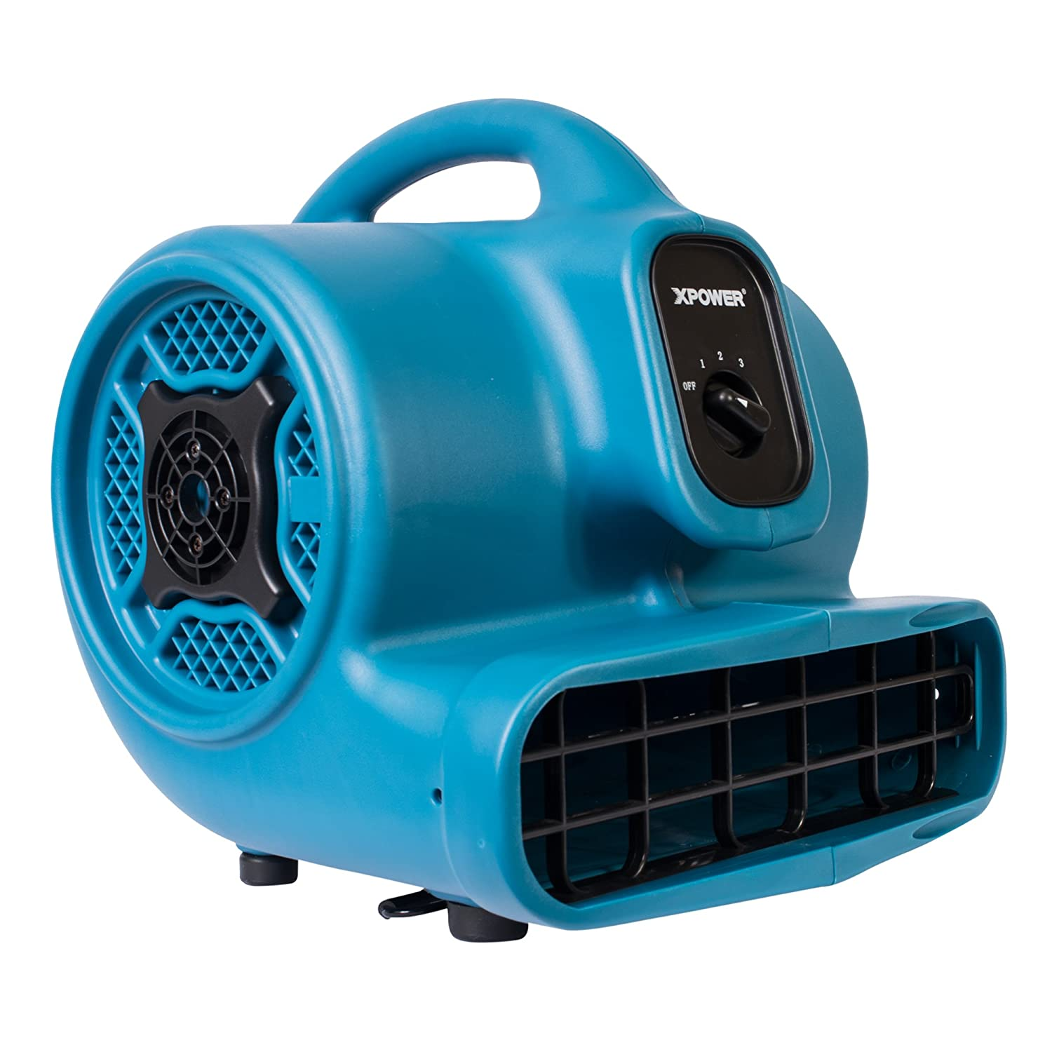 XPOWER P-400 1/4 HP 1600 CFM 3 Speed Multipurpose Air Mover, 3.0-Amp - Buy One, Get One at 30% Off XPOWER Manufacture Inc. P-400-Blue
