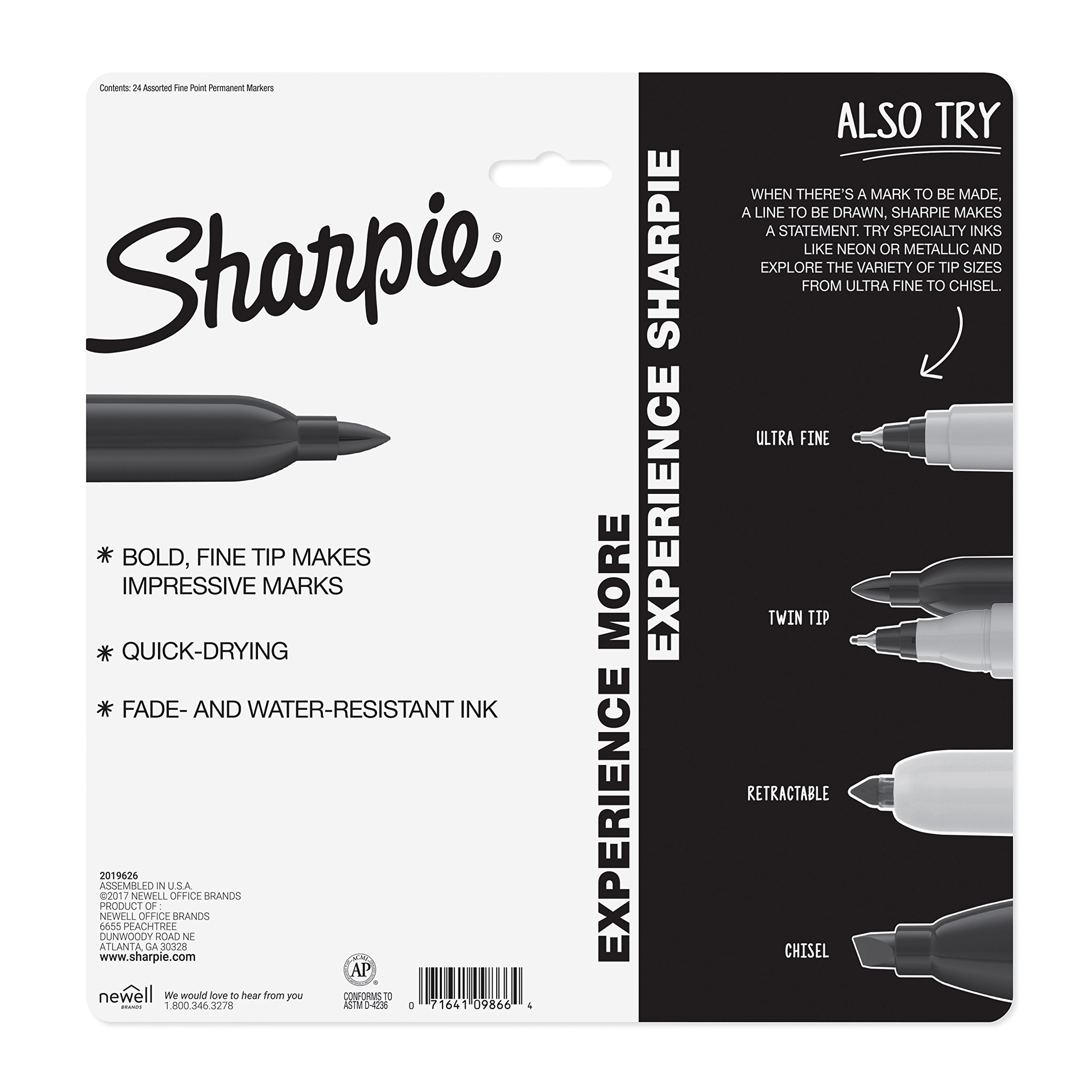 Sharpie Color Burst Permanent Markers, Fine Point, Assorted Colors, 24 Count by Sharpie (Image #9)