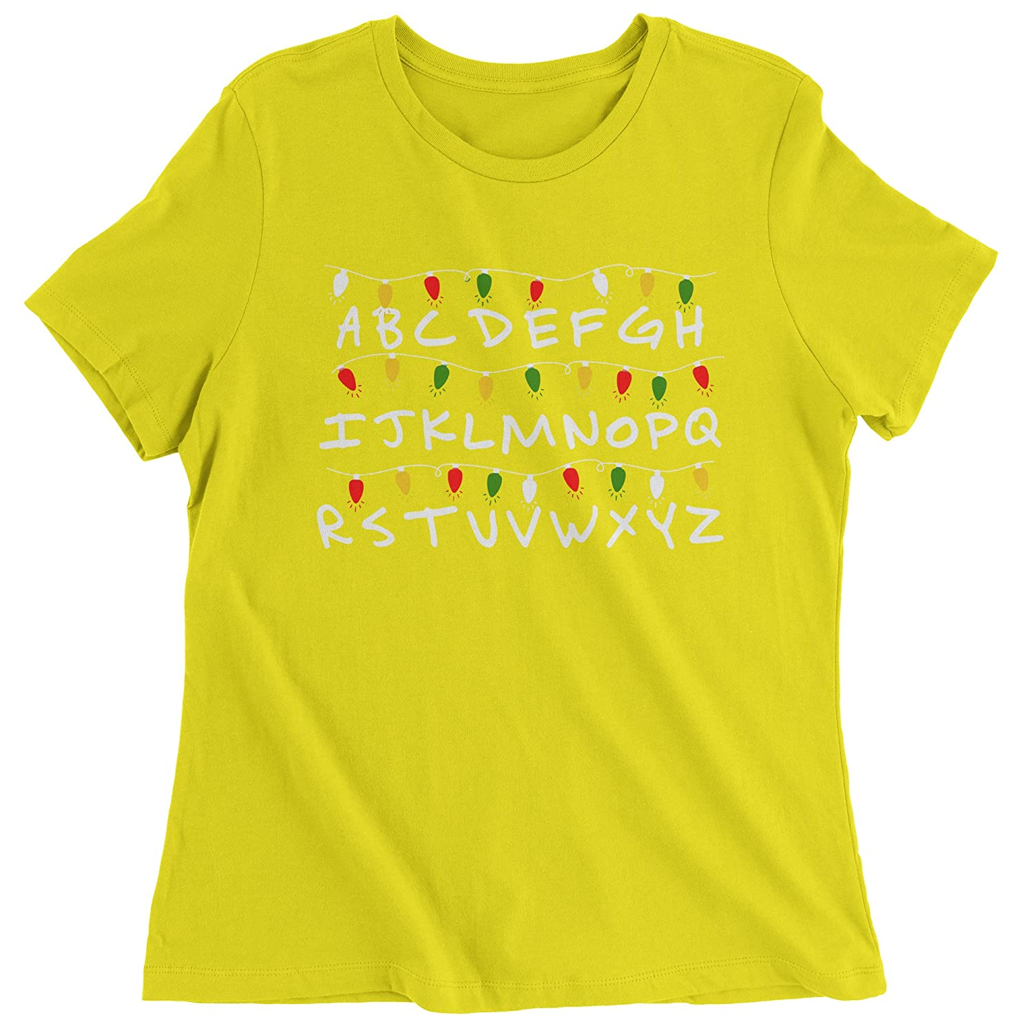 6ba4d8691 Have you ever seen a stranger thing than this? The entire alphabet lit up  by Christmas lights. Full color, vibrant print. Printed and designed in the  U.S.A. ...