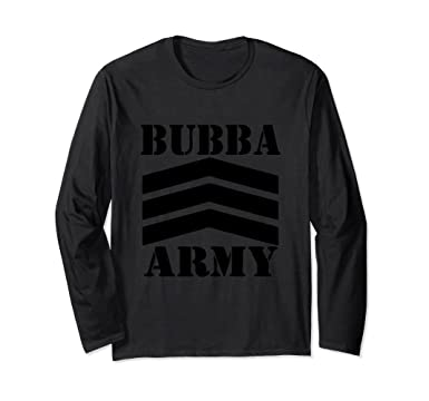 02276057 Unisex STANDARD BUBBA ARMY (Blk) - OFFICIAL BUBBA ARMY LONG SLEEVE Small  Black