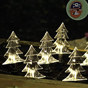Garten-Leuchtstäbe Lichterkette mit 6 Tanne für Balkon Garten außen ...