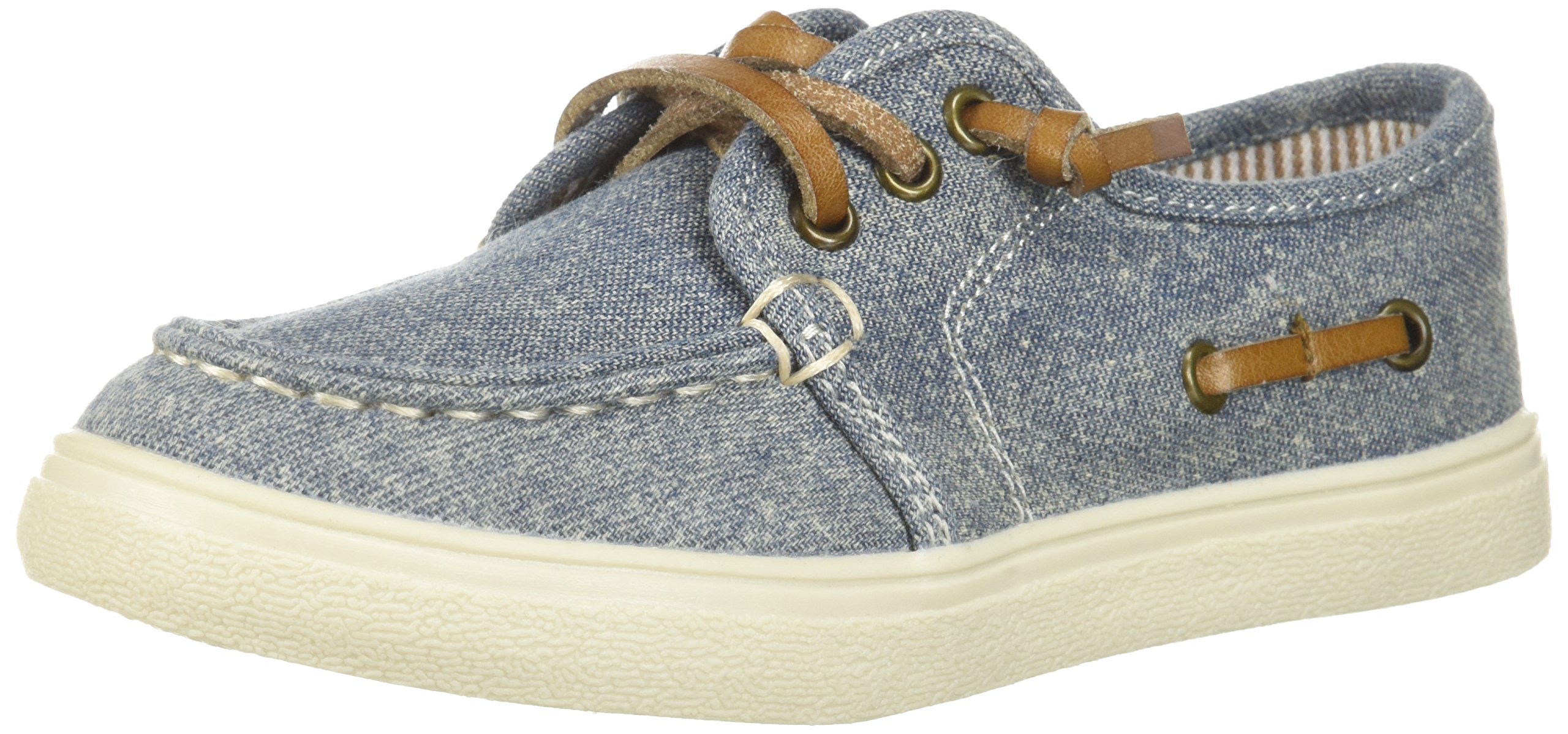The Children's Place Boys' TB Laceup Street Slipper, Chambray, TDDLR 11 Medium US Infant