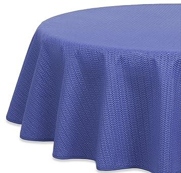D-c-fix nappe pour table de jardin ronde ø 160 cm Rund 160 cm bleu ...