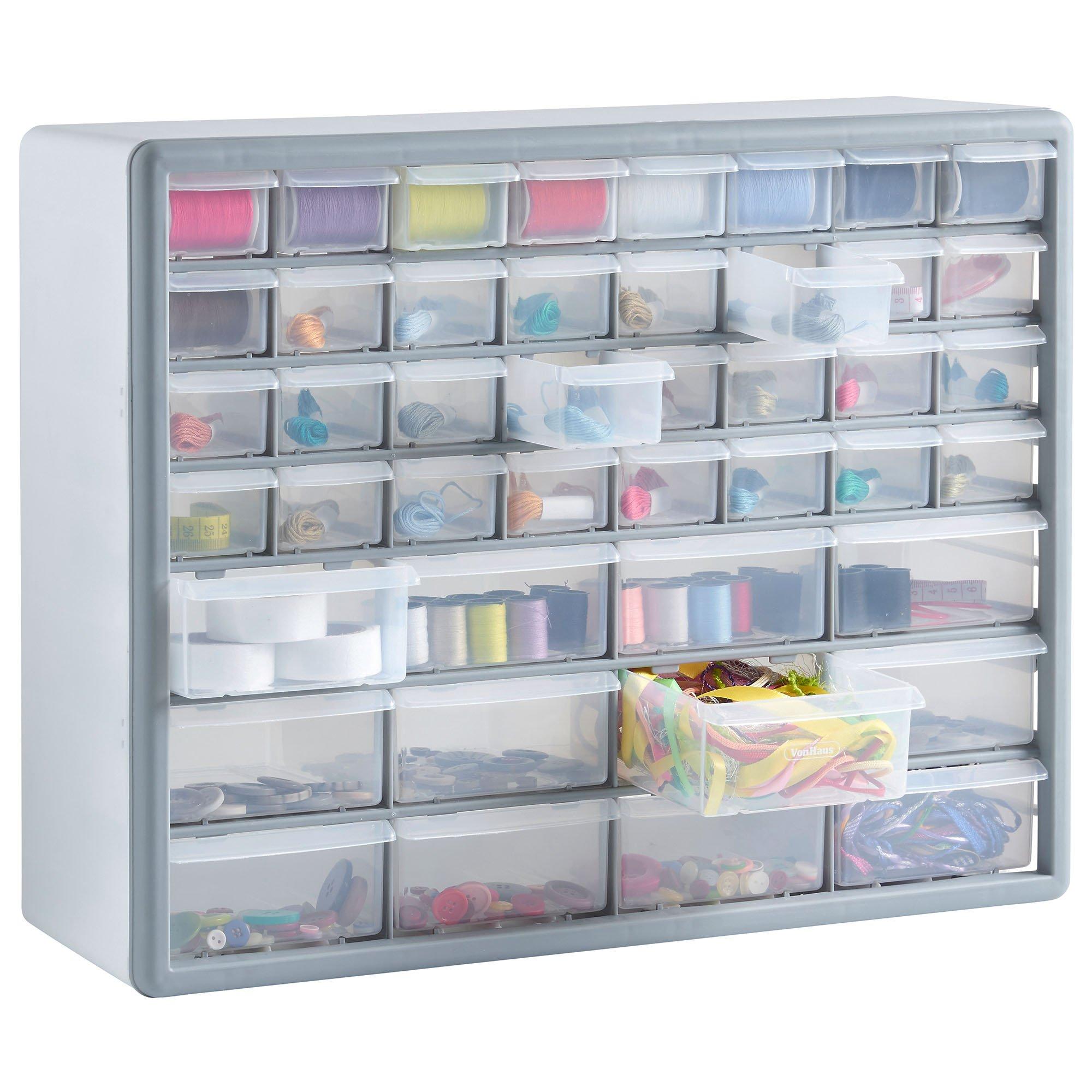 VonHaus 44 Multi Drawer Storage Cabinet Organiser - White/Grey  sc 1 st  Amazon UK & Craft Storage Units: Amazon.co.uk