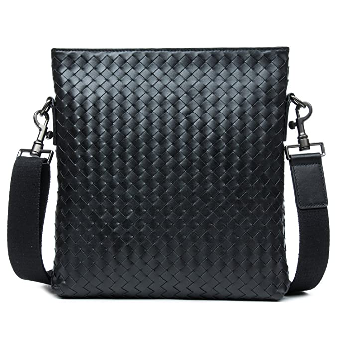 a21d2428785e DANJUE Genuine Leather Shoulder Bag 3 Colors Handmade Woven Designer Bag  for Men Cross Body Fashion