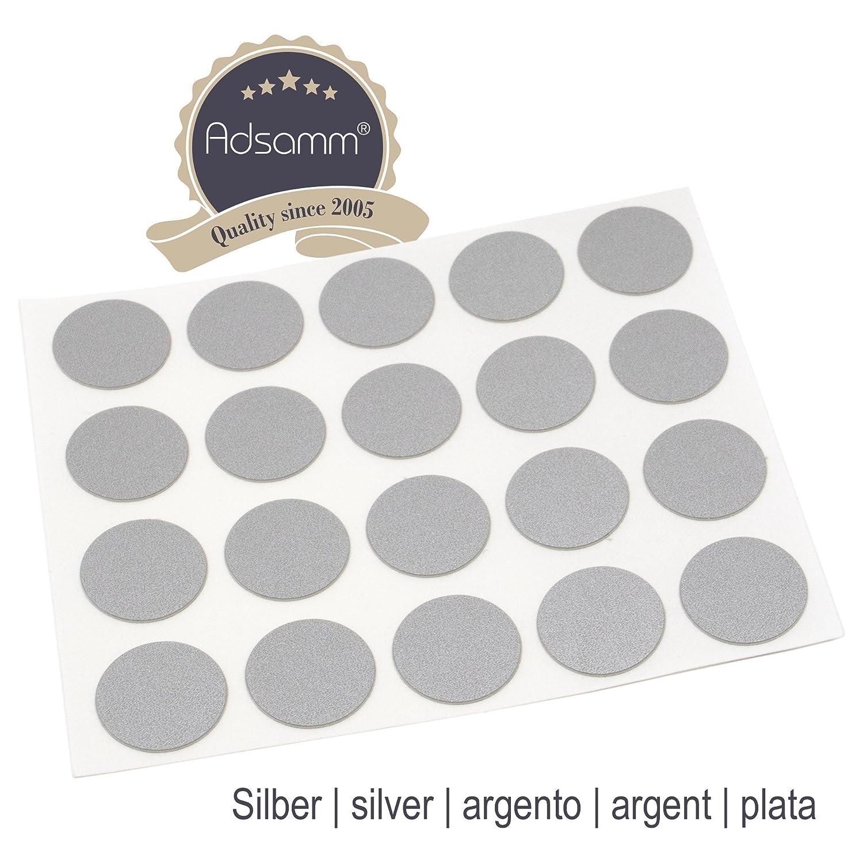 Adsamm 20 x Cover caps | Ø 0.51'' (Ø 1,3 cm) | Oak Light | Round | 0.018'' (0,45 mm) Thin, self-Adhesive Furniture Patches 3 cm) | Oak Light | Round | 0.018'' (0