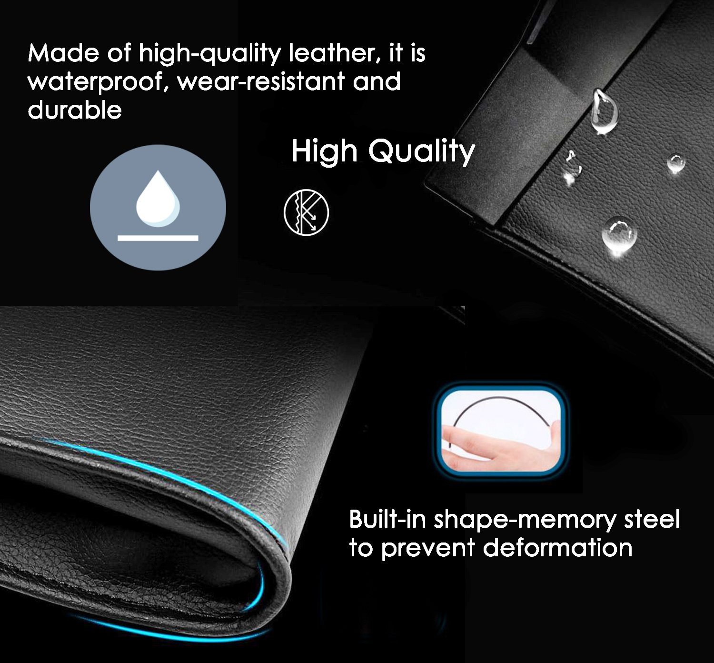 Eximone Car Organizer Rubbish Bin Foldable Leather Bag Magnetic Extra Slim Design Waterproof Wear Resistant Durable