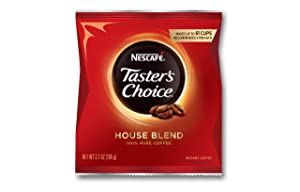 Nescafe Instant Coffee, Taster's Choice Light Roast, Foodservice Coffee, 3.7 oz Singles