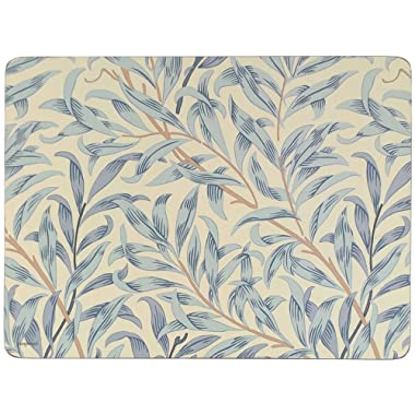MORRIS & CO WILLOW BOUGHS BLUE SET OF 6 CORK BACKED PLACE MATS 30.5 X 23 X .6CM