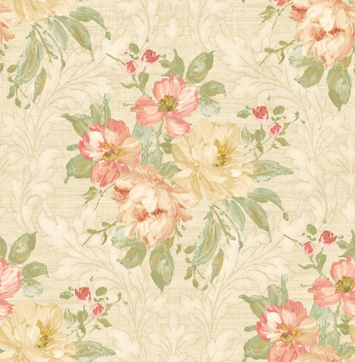 Vintage Wallpaper Floral Wallpaper Damask Wallpaper Victorian