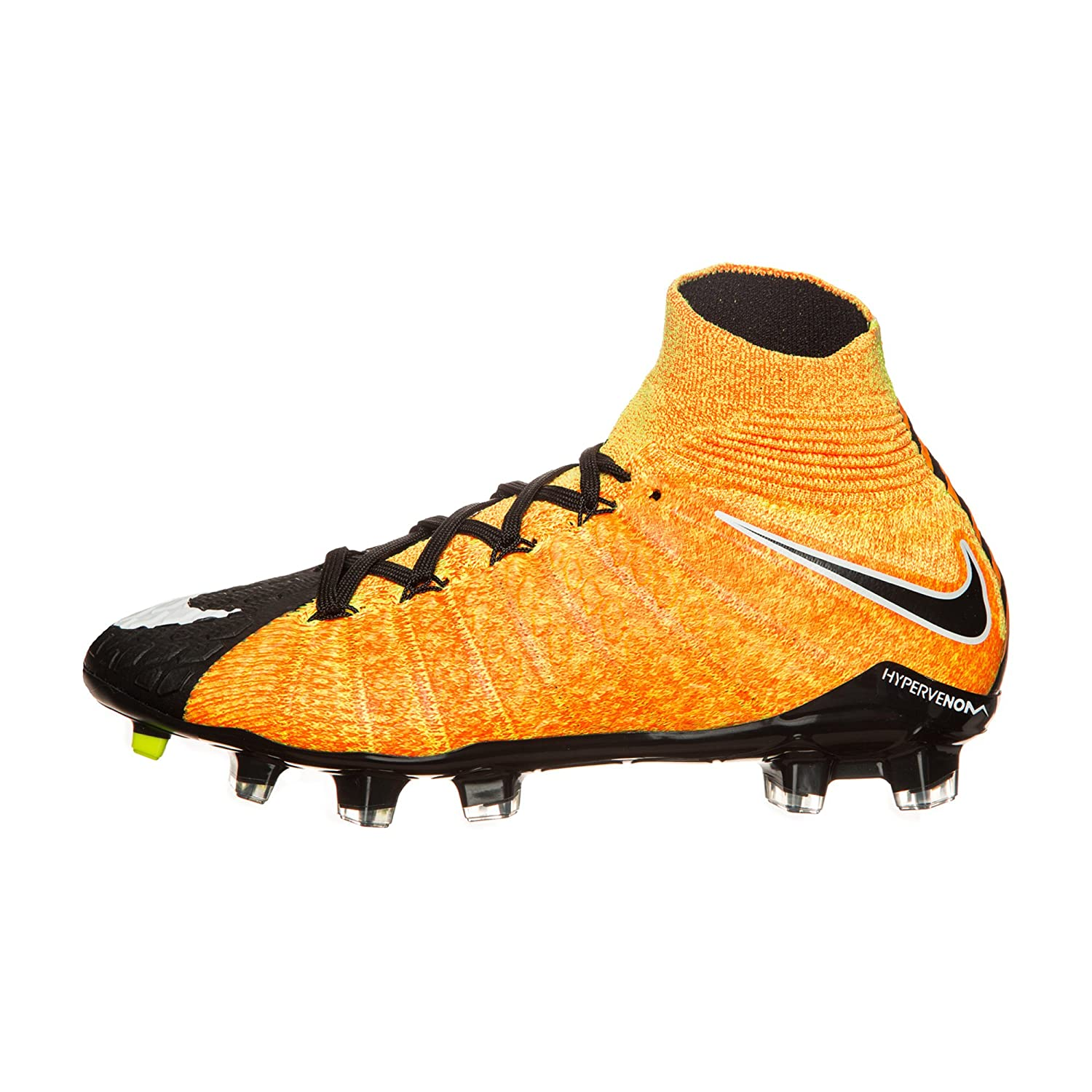 online store 226f0 65ac0 Nike Kids' Jr. Hypervenom Phantom 3 DF FG Soccer Shoe (Sz. 5.5Y) Laser  Orange, Black