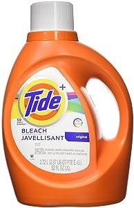 Tide Plus Bleach Alternative Safe on Colors Liquid Laundry Detergent, Original Scent, 2.72 L (59 Loads)