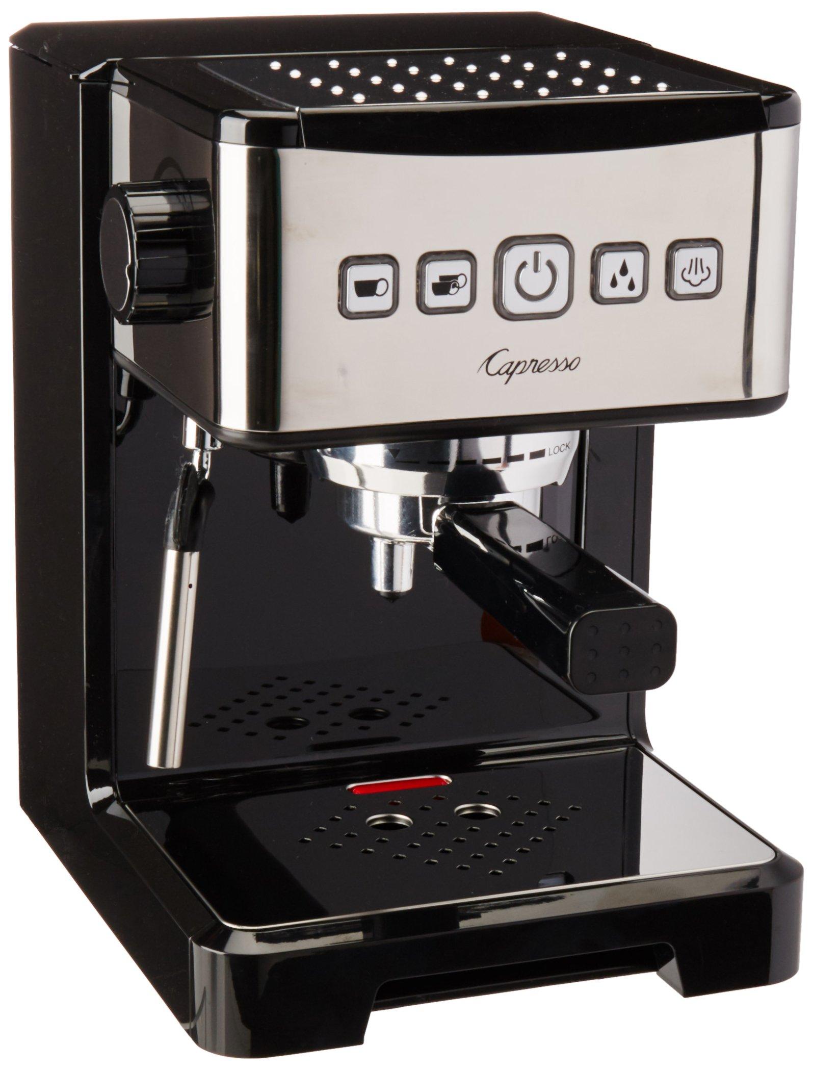 Capresso 124.01 Ultima Pro Espresso Machine Coffeemaker, Black/Stainless by Capresso (Image #1)